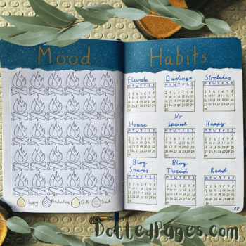 November Bullet Journal Setup 2020 Trackers