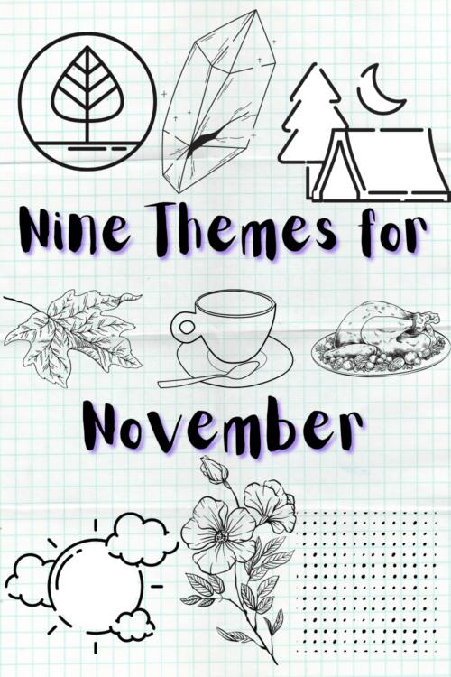 November Bullet Journal Theme Ideas Pin