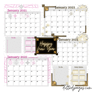 January 2021 Free Calendar