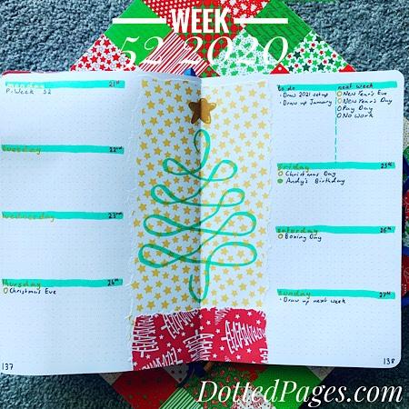 Week 52 2020 Bullet Journal Spread