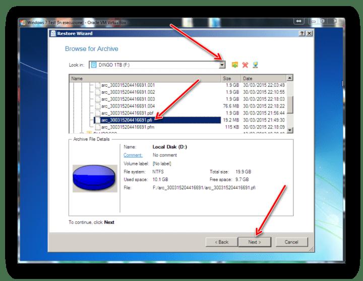 Come fare il backp di un hard disk o di una partizione