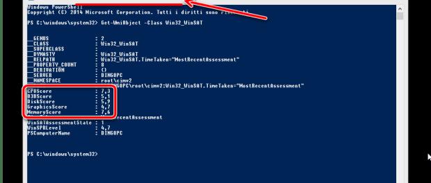 Windows 8.1 non fornisce più l'indice delle prestazioni, come mai?