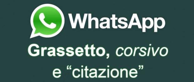 formattare il testo di whatsapp