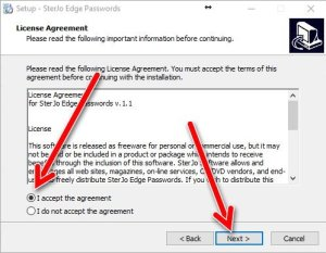 SterJo Edge password license agreement
