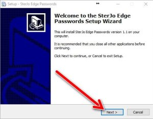 SterJo Edge password setup 1