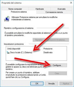 Proprieta del sistema windows 10