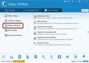 Glary Utilities 5 Privacy e Sicurezza