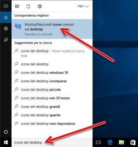 icone del desktop ricerca
