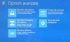 Ripristino Windows 10