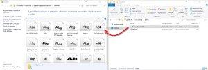 installare nuovi caratteri in Windows 10