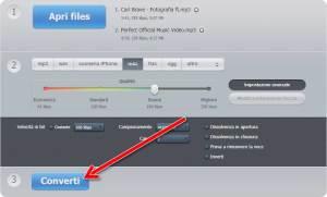 Online video converter Avvio conversione