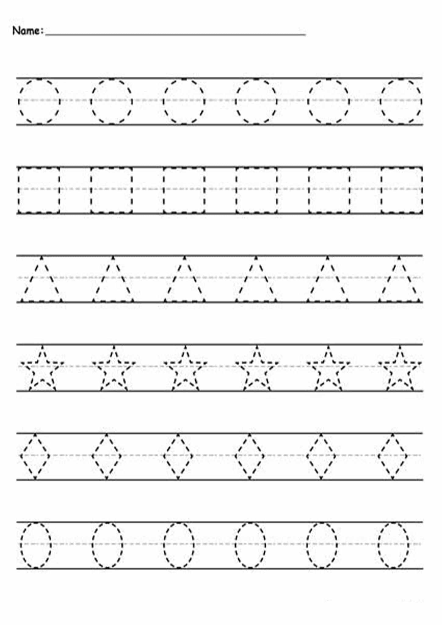 Tracing Dotted Lines Worksheets Free