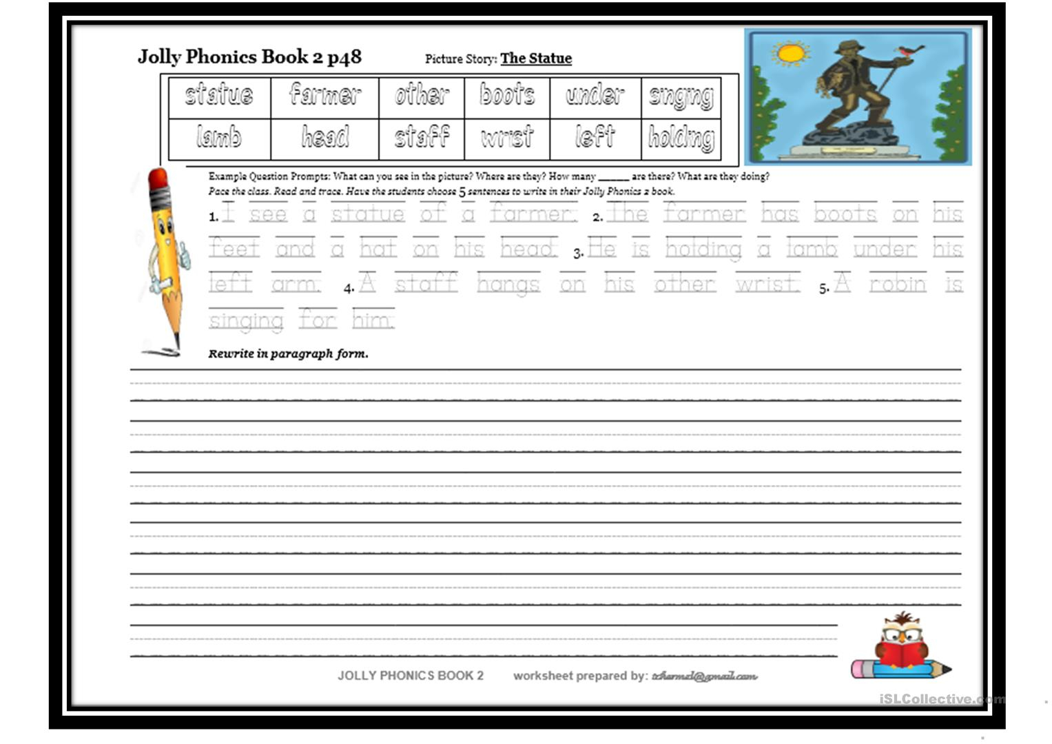 Jolly Phonics Letter Tracing Worksheets