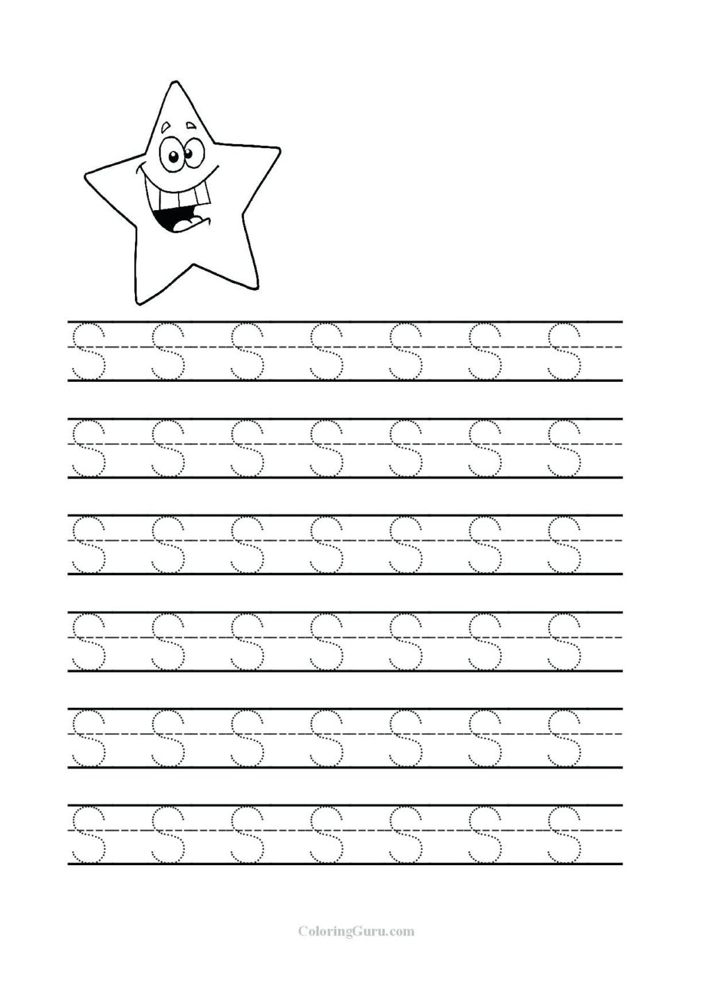 Worksheet Preschool Tracing Letters Worksheet Free