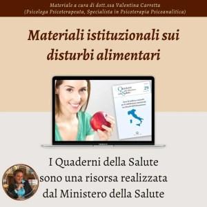 Quaderni del Ministero della Salute