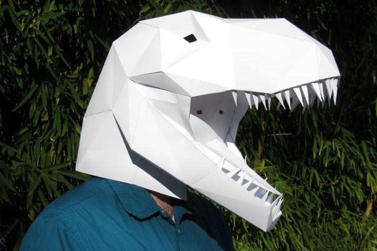 Maschere di carta da dinosauro  DottorGadget