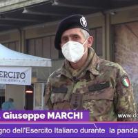 I tamponi pit stop a Perugia, Esercito Italiano a supporto dei medici