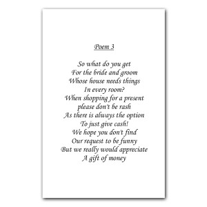 Wedding Poem Cards Dotty about Paper Latest News