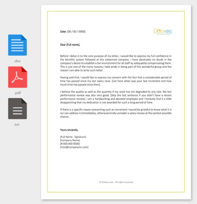 pay raise letter