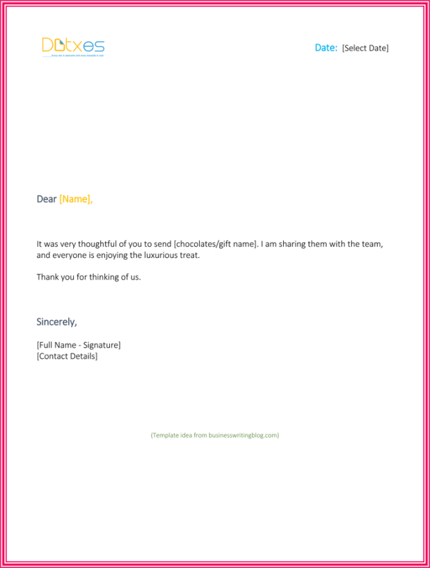 thank you email for gift giftsite co