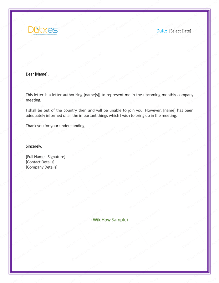6 Free Printable Authorization Letter Formats And Samples For Word