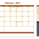 February 2017 Calendar with Holidays