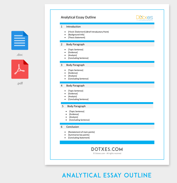 Essay Outline Templates  Free Samples Examples And Formats Analytical Essay Outline Template Purchase Powerpoint Presentation also A Modest Proposal Ideas For Essays  English Class Essay