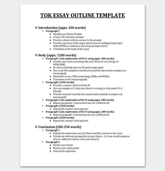 30 Essay Outline Templates Free Samples Examples And