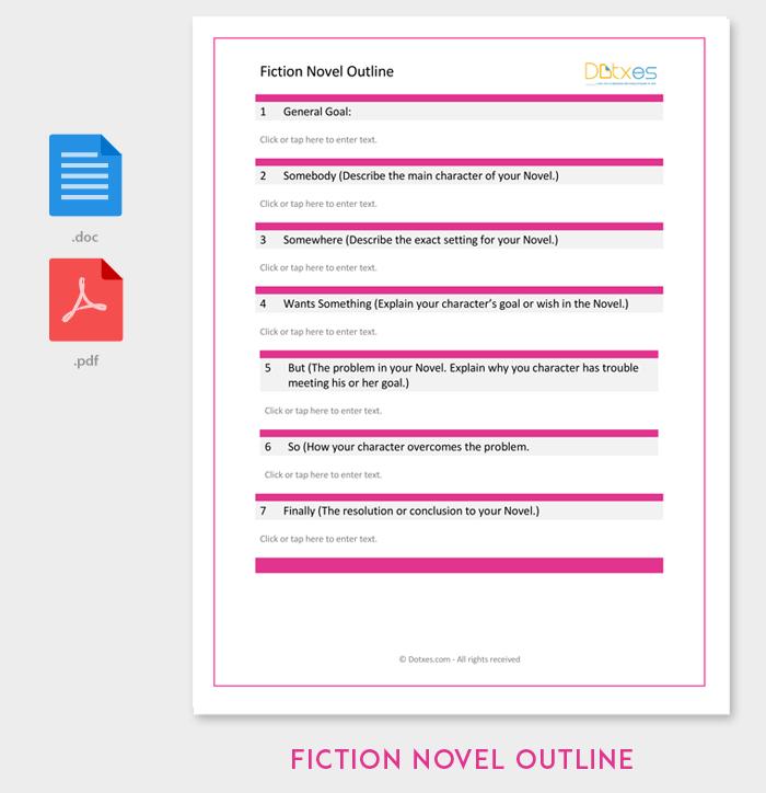 fiction novel outline template 4 sample format example dotxes