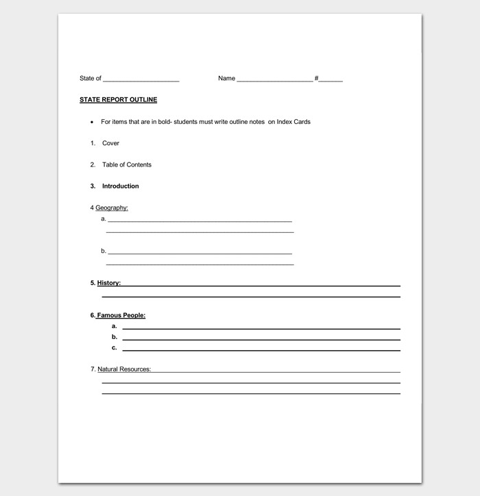 Report Outline Template 19 Samples Formats Examples