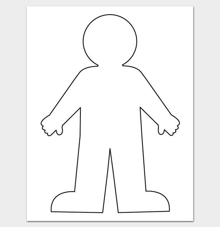Refreshing image with regard to printable body outline