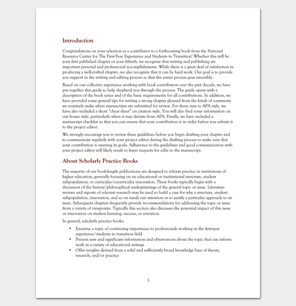 Chapter Outline Template 10 Free Formats Examples and