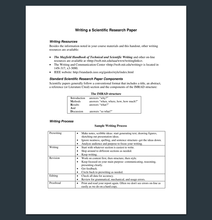 Research Outline Template 20 Formats Examples And Samples