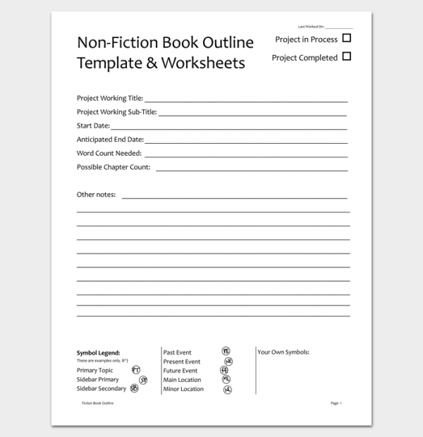 Novel Outline Template 11 For Word Excel PDF Format