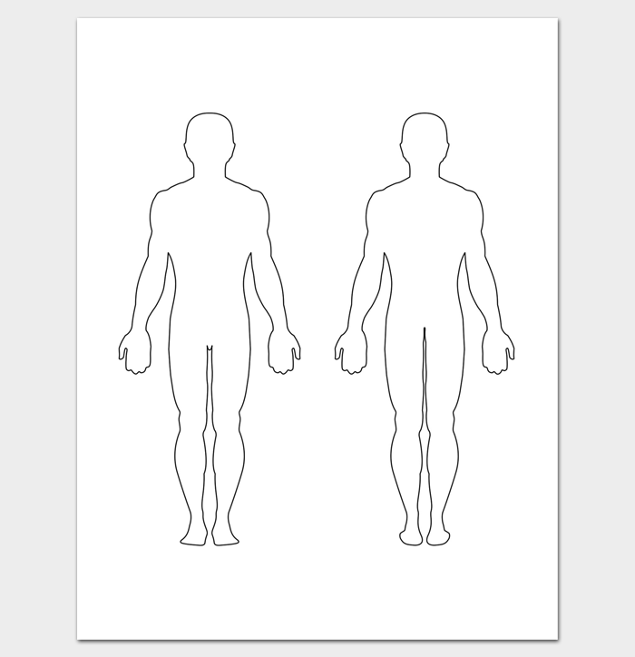 Printable Body Outline PDF Front and Back