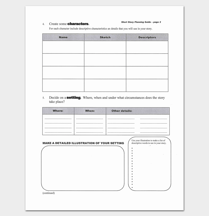 Short Story Outline Template