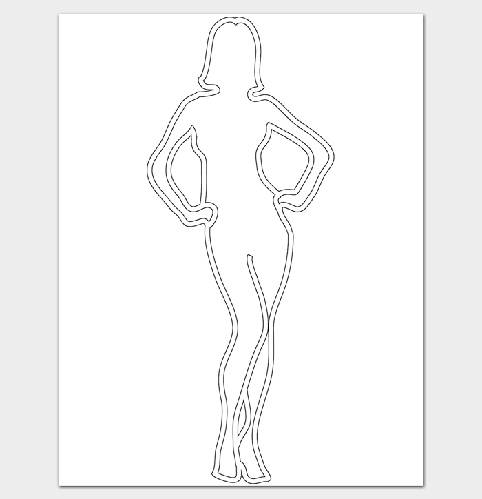 woman outline template