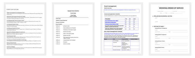 event program outline 13 printable samples examples formats