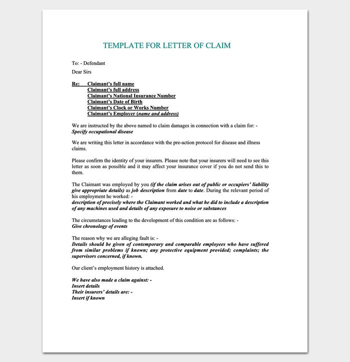 Formal Claim Letter (PDF Format) 1