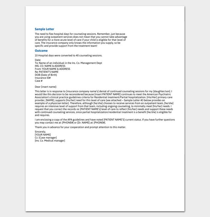 Insurance Claim Letter Sample 1