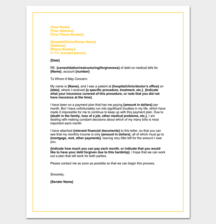 word doc letter template