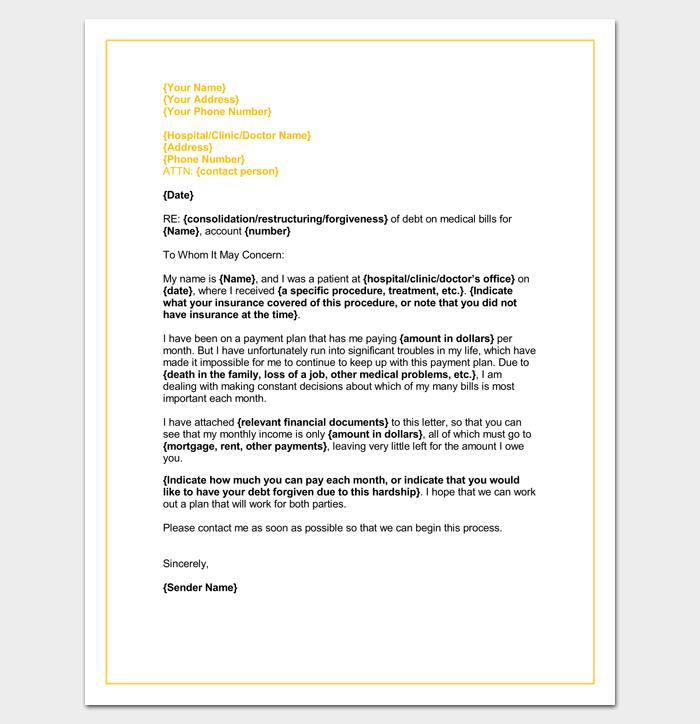 Medical Hardship Letter Template Word DOC