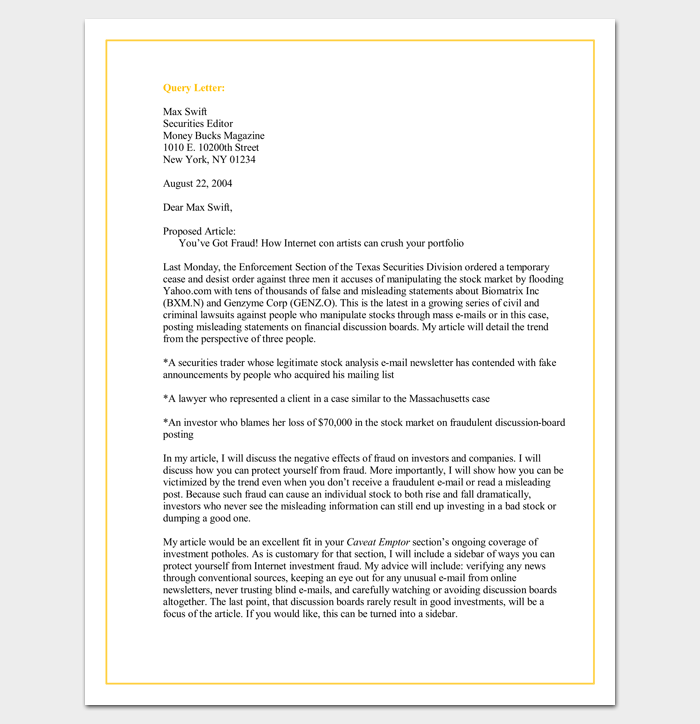Query Letter Template
