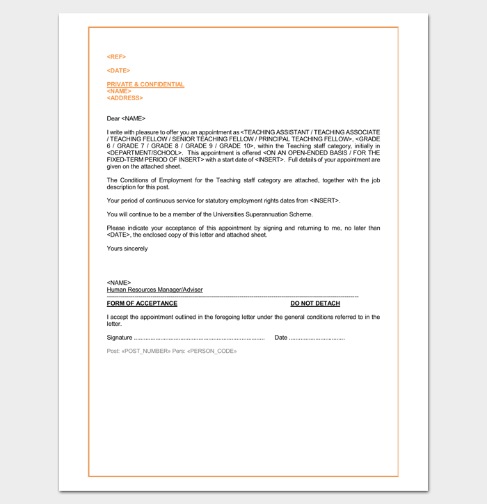 Sample appointment letter contract basis poemsrom sample appointment letter for school prinl thecheapjerseys Image collections