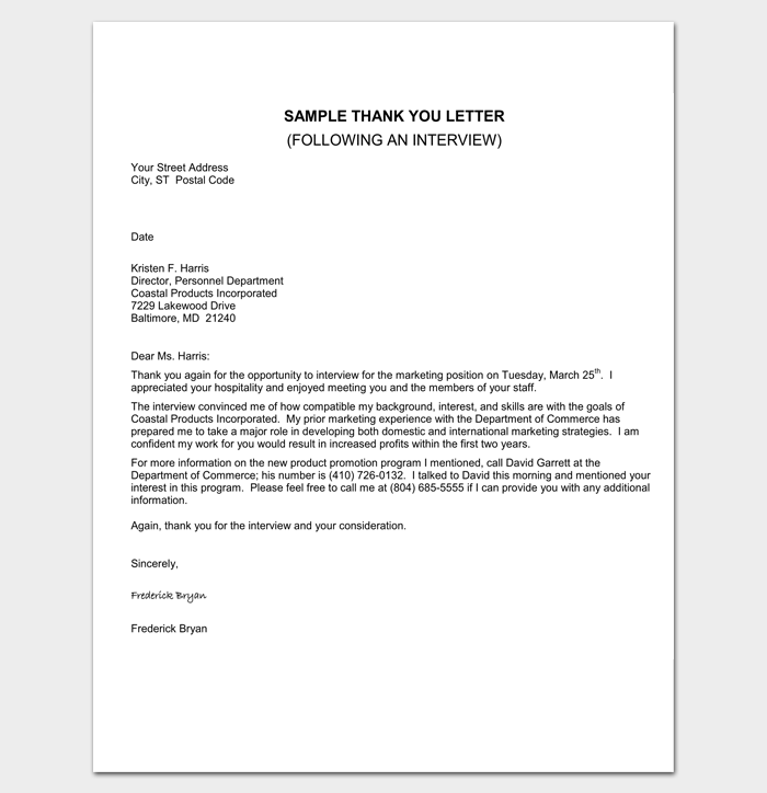 Interview Appointment Letter 6 Samples For Word Pdf Format