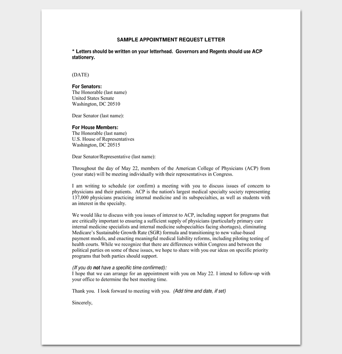 Meeting Appointment Letter - 9+ Templates for Word, PDF Format