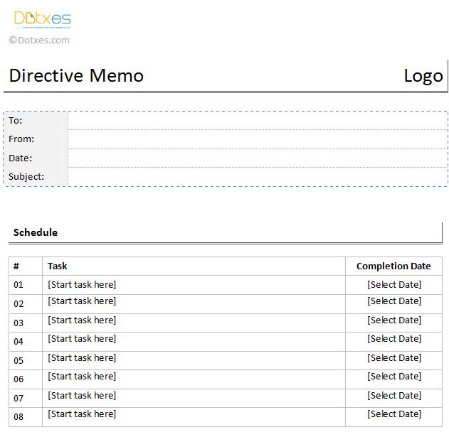 directive memo template dotxes