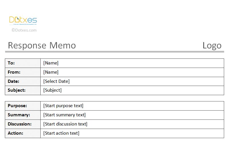 templates of memos