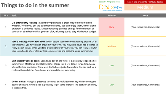 Things To Do in the summer (Featured Image)