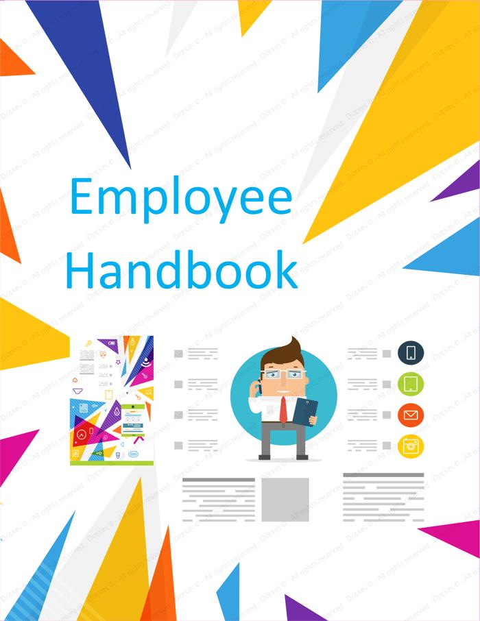 employee handbook cover design template